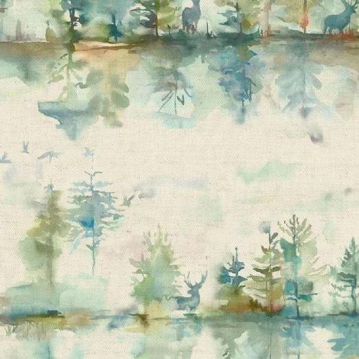 Wilderness In Topaz Linen By Voyage Maison Curtain