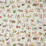 Animal Alphabet Fudge 1.5 Mtr Roll End Stock