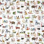 Animal Alphabet Paintbox Stock