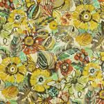 Tropical Garden in Pineapple by Prestigious Textiles