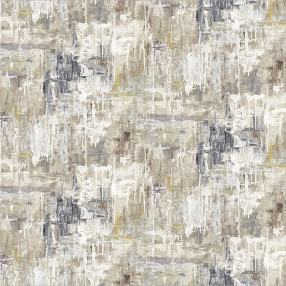 Abstract In Natural By Edinburgh Weavers Curtain Fabric