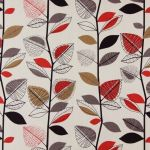 Autumn Leaves Red Berry 1.4 Mtr Roll End