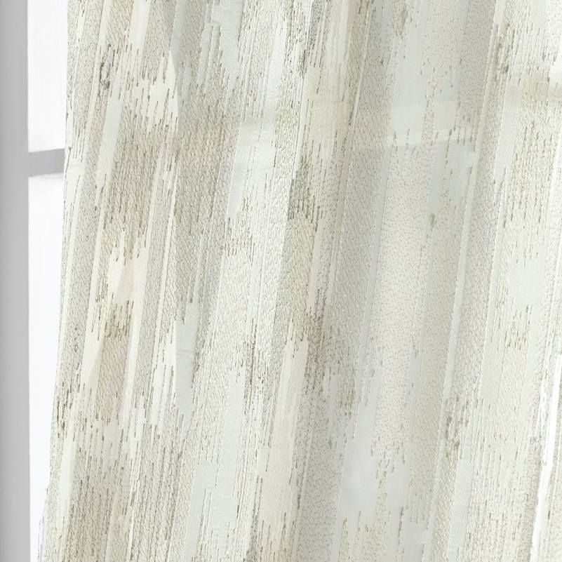 Mia Extra Wide Sheer In Ivory By, Sheer Patterned Curtains Uk