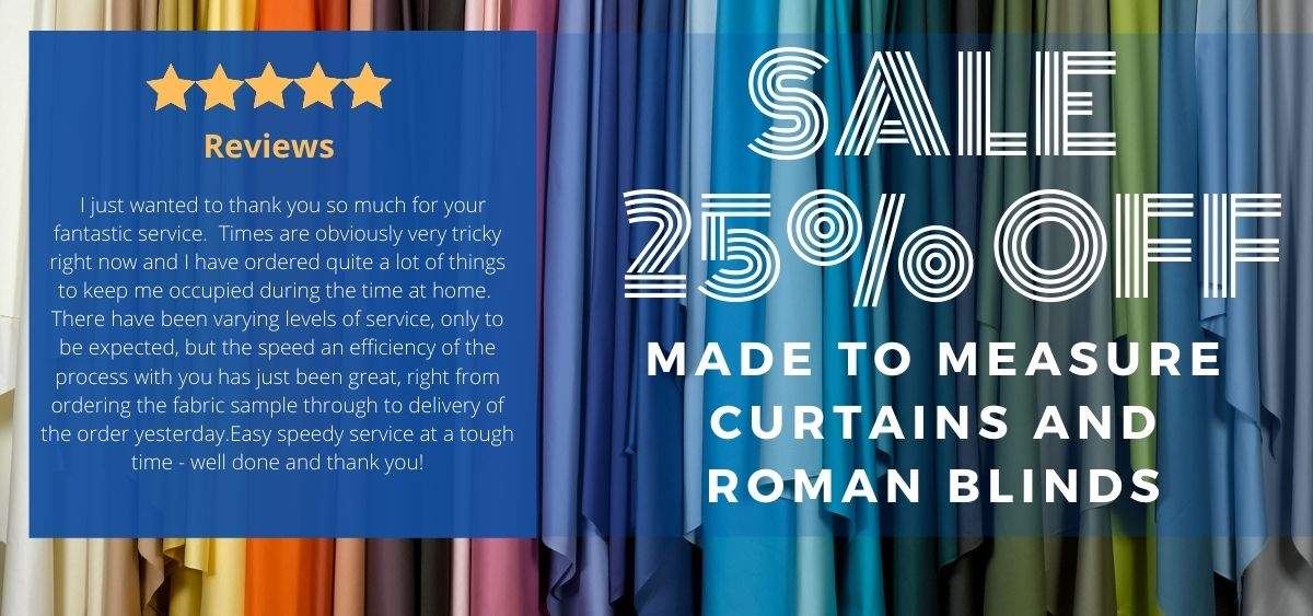 Made to Measure Curtains Save 25%